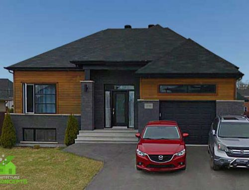 Bungalow contemporain garage simple et bachelor